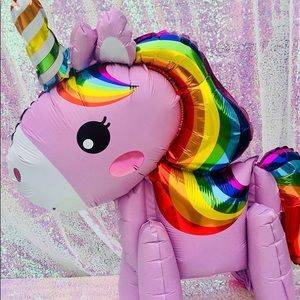 Other - Pink Unicorn Airwalker Balloons